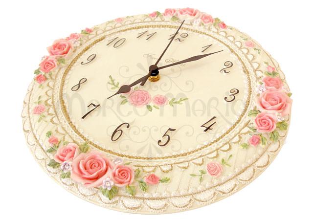 Pink Roses Wall Clock,marco mario souvenir, wedding souvenirs, souvenir pernikahan surabaya indonesia, wedding favors, souvenir ideas, royal wedding souvenirs