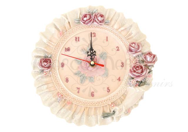 Floral rounded Wall Clock,marco mario souvenir, wedding souvenirs, souvenir pernikahan