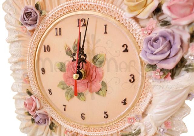 Floral Square Wall Clock,marco mario souvenir, wedding souvenirs, souvenir pernikahan surabaya indonesia, wedding favors, souvenir ideas, royal wedding souvenirs