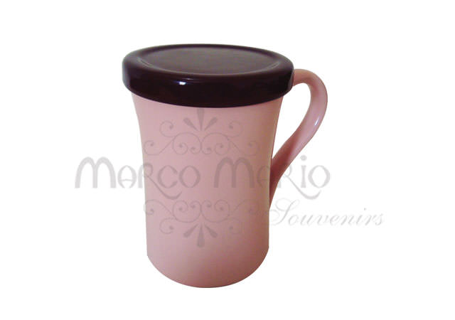 Sweet Pink and Brownie Mug,marco mario souvenir, wedding souvenirs, souvenir pernikahan