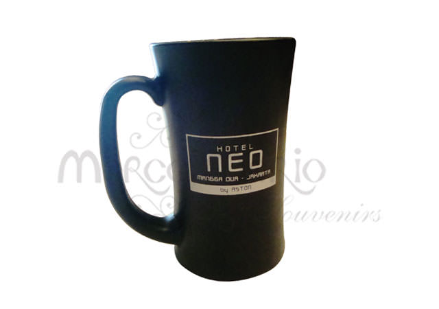 Black Elegant Mug,marco mario souvenir, wedding souvenirs, souvenir pernikahan