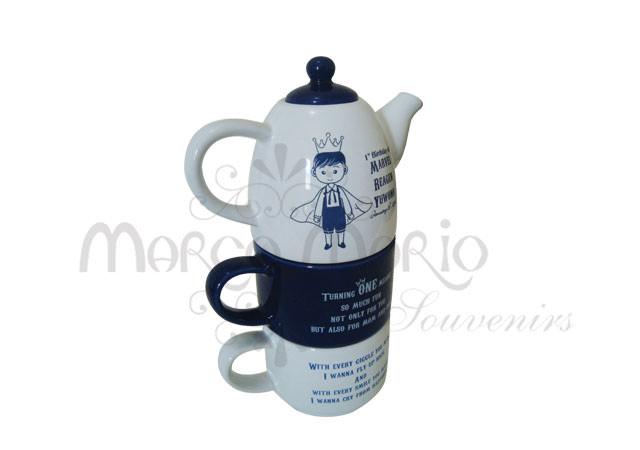 Three Levels Teapot Set,marco mario souvenir, wedding souvenirs, souvenir pernikahan surabaya indonesia, wedding favors, souvenir ideas, royal wedding souvenirs