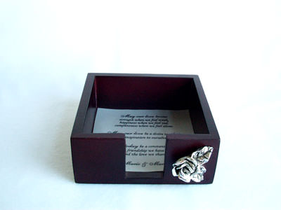 Silver Rose Wooden Memo Holder,marco mario souvenir, wedding souvenirs, souvenir pernikahan surabaya indonesia, wedding favors, souvenir ideas, royal wedding souvenirs