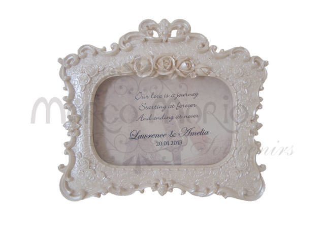 Pearly white flowery frame,marco mario souvenir, wedding souvenirs, souvenir pernikahan surabaya indonesia, wedding favors, souvenir ideas, royal wedding souvenirs