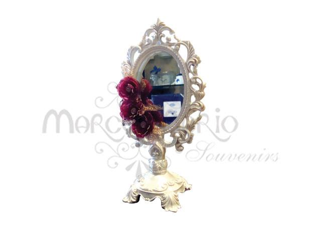 White victorian standing mirror,marco mario souvenir, wedding souvenirs, souvenir pernikahan