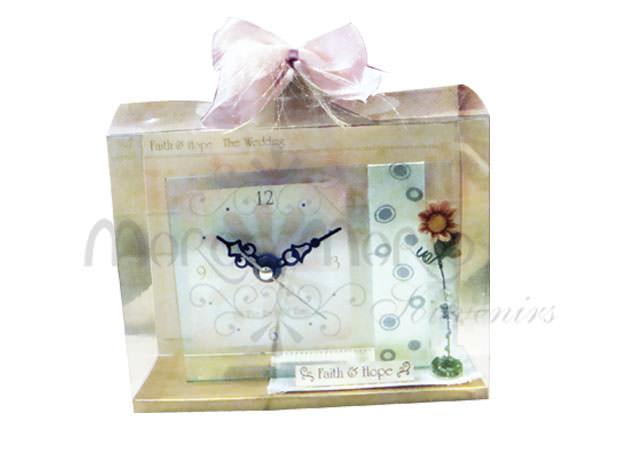 glass clock and craft,marco mario souvenir, wedding souvenirs, souvenir pernikahan