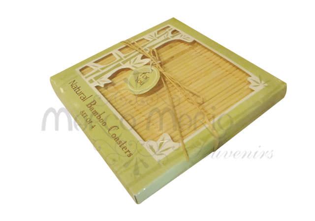 japanese bamboo coaster,marco mario souvenir, wedding souvenirs, souvenir pernikahan