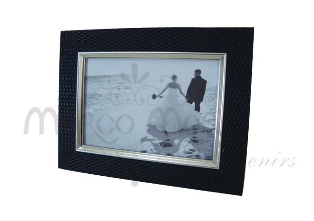 Textured black frame,marco mario souvenir, wedding souvenirs, souvenir pernikahan