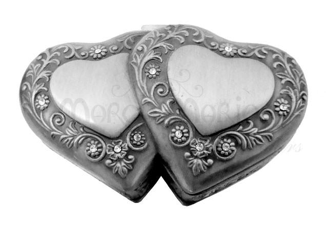 Two hearts jewelry box,marco mario souvenir, wedding souvenirs, souvenir pernikahan