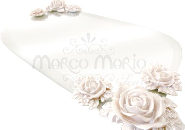 pearly white roses glass tray,marco mario souvenir, wedding souvenirs, souvenir pernikahan