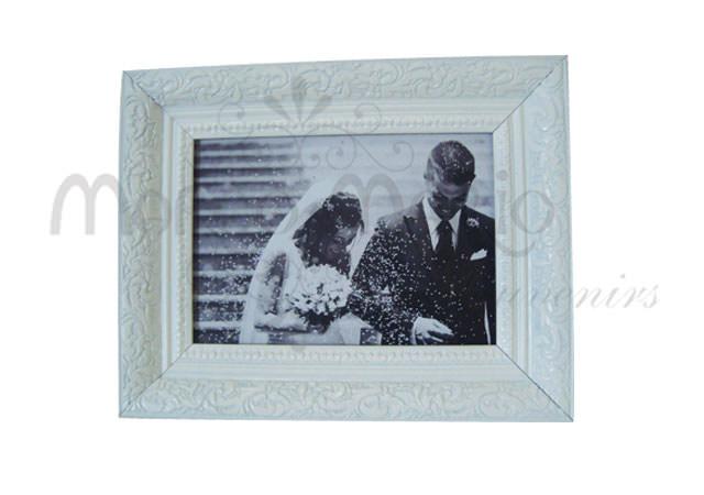 beautiful classic frame white,marco mario souvenir, wedding souvenirs, souvenir pernikahan