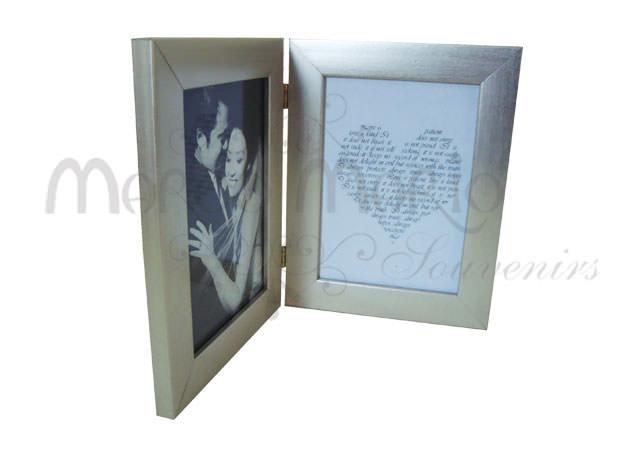 silverish flip frame minimalist,marco mario souvenir, wedding souvenirs, souvenir pernikahan