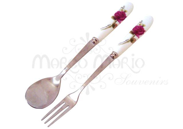 beautiful flower spoon set,marco mario souvenir, wedding souvenirs, souvenir pernikahan