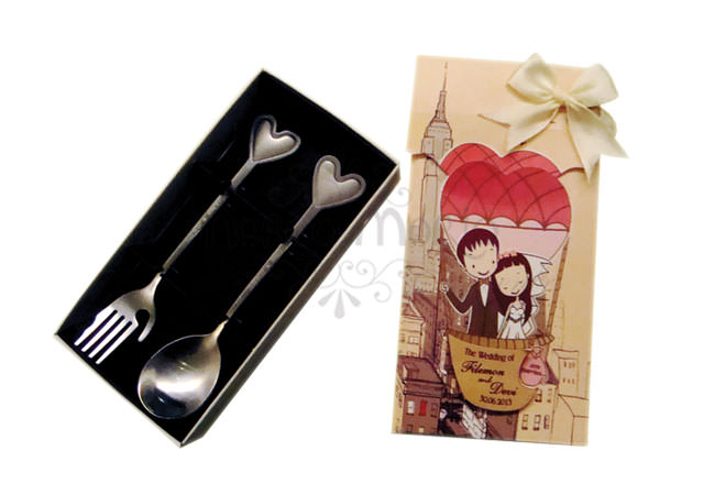 Air balloon tea spoon set,marco mario souvenir, wedding souvenirs, souvenir pernikahan
