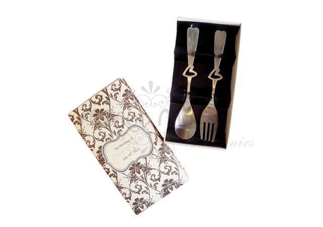 lovely tea spoon set,marco mario souvenir, wedding souvenirs, souvenir pernikahan