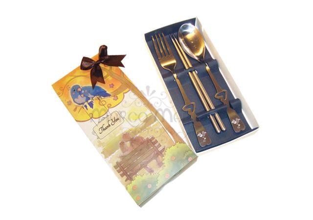 Sunset love spoon set,marco mario souvenir, wedding souvenirs, souvenir pernikahan