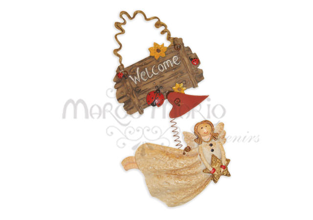 Little Angel Welcome Sign,marco mario souvenir, wedding souvenirs, souvenir pernikahan