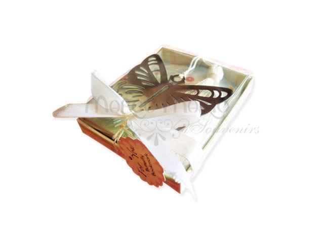 Beautiful Butterfly bookmark,marco mario souvenir, wedding souvenirs, souvenir pernikahan