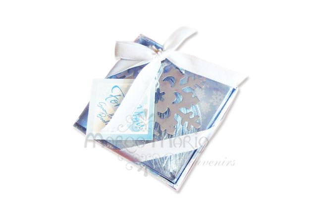 Frozen Crystal Snow bookmark,marco mario souvenir, wedding souvenirs, souvenir pernikahan