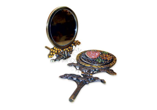 Vintage flip mirror,marco mario souvenir, wedding souvenirs, souvenir pernikahan