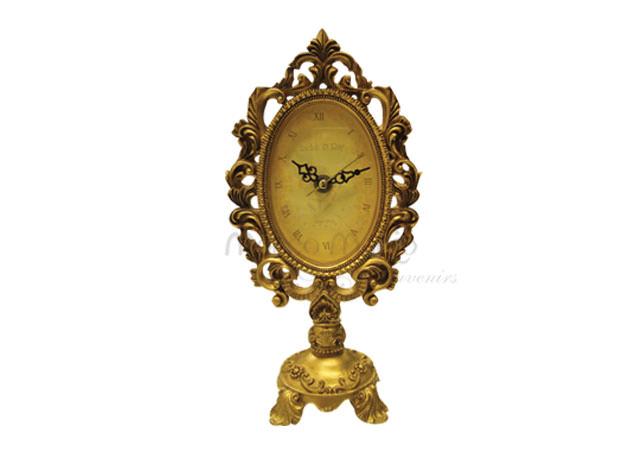 Vintage gold clock oval,marco mario souvenir, wedding souvenirs, souvenir pernikahan
