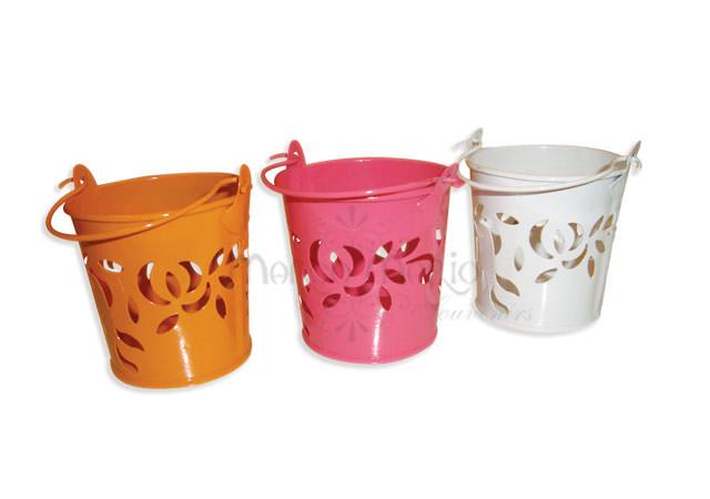 colorful Flower pails,marco mario souvenir, wedding souvenirs, souvenir pernikahan