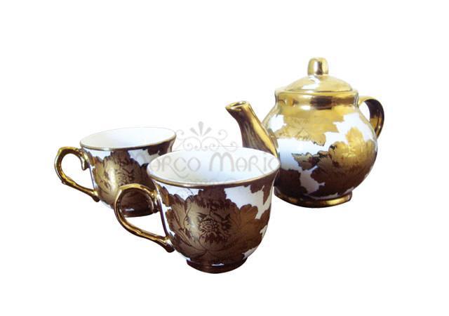 Elegant gold mini teapot set,marco mario souvenir, wedding souvenirs, souvenir pernikahan