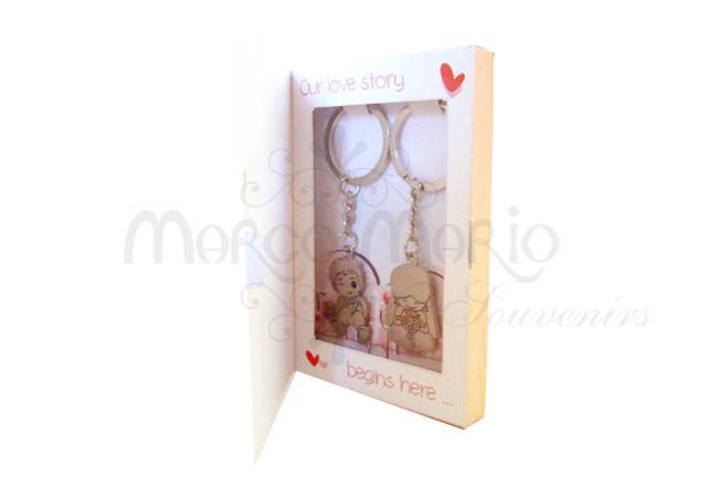 Love Story Metal Keyring,marco mario souvenir, wedding souvenirs, souvenir pernikahan