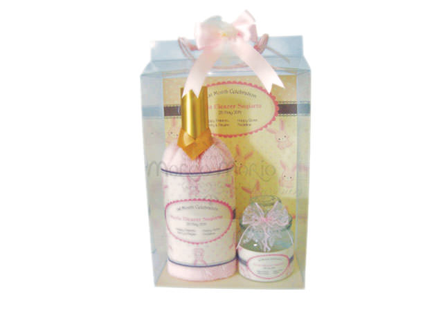 Wine bottle towel and cookie jar,marco mario souvenir, wedding souvenirs, souvenir pernikahan