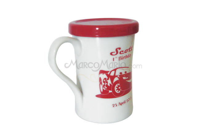 red and white big mug,marco mario souvenir, wedding souvenirs, souvenir pernikahan